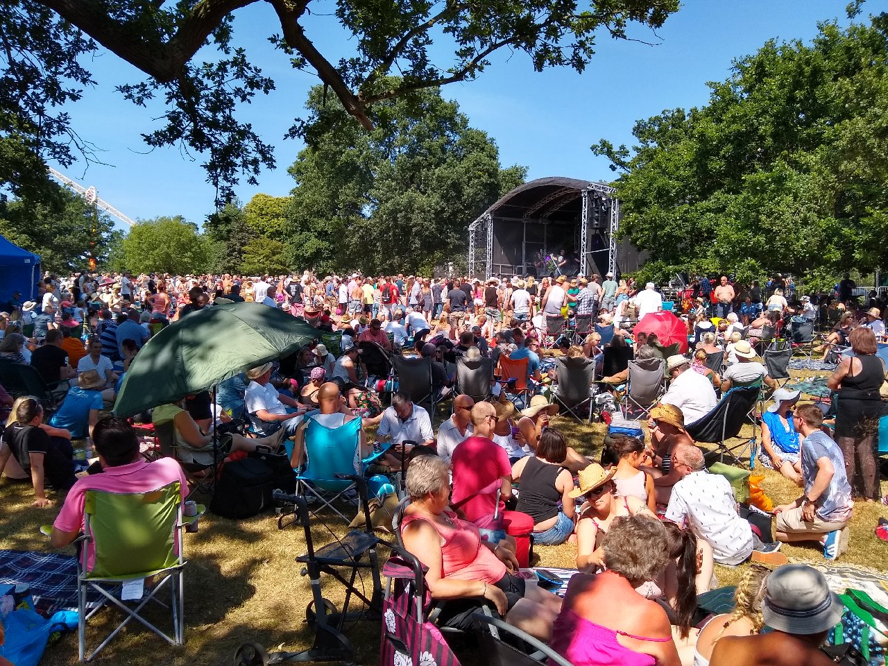 A crowd watching a stage at Ipswich Music Day