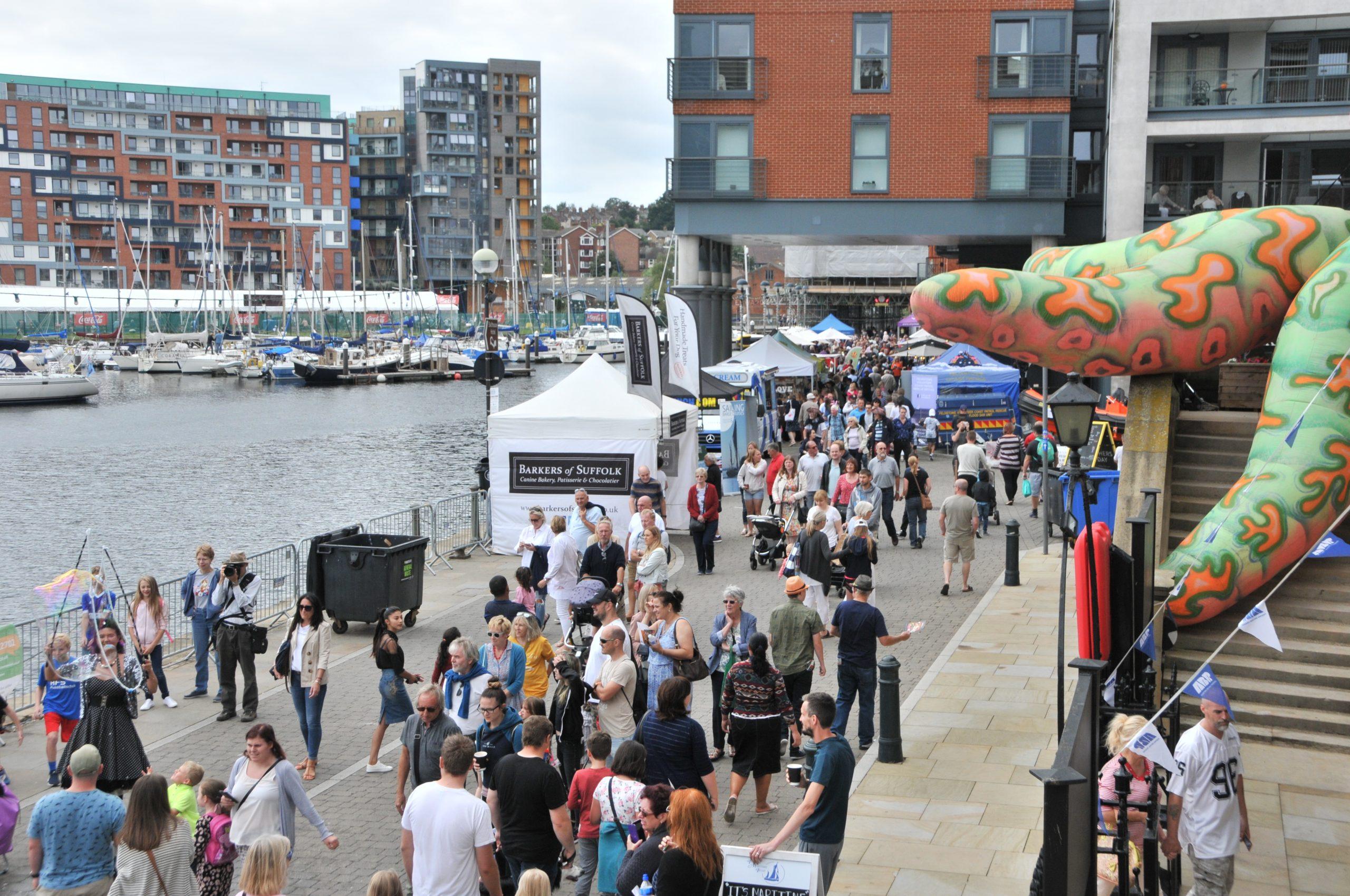 Stalls at Ipswich Maritime Festival
