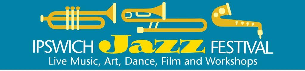 Ipswich Jazz Festival blue and yellow logo
